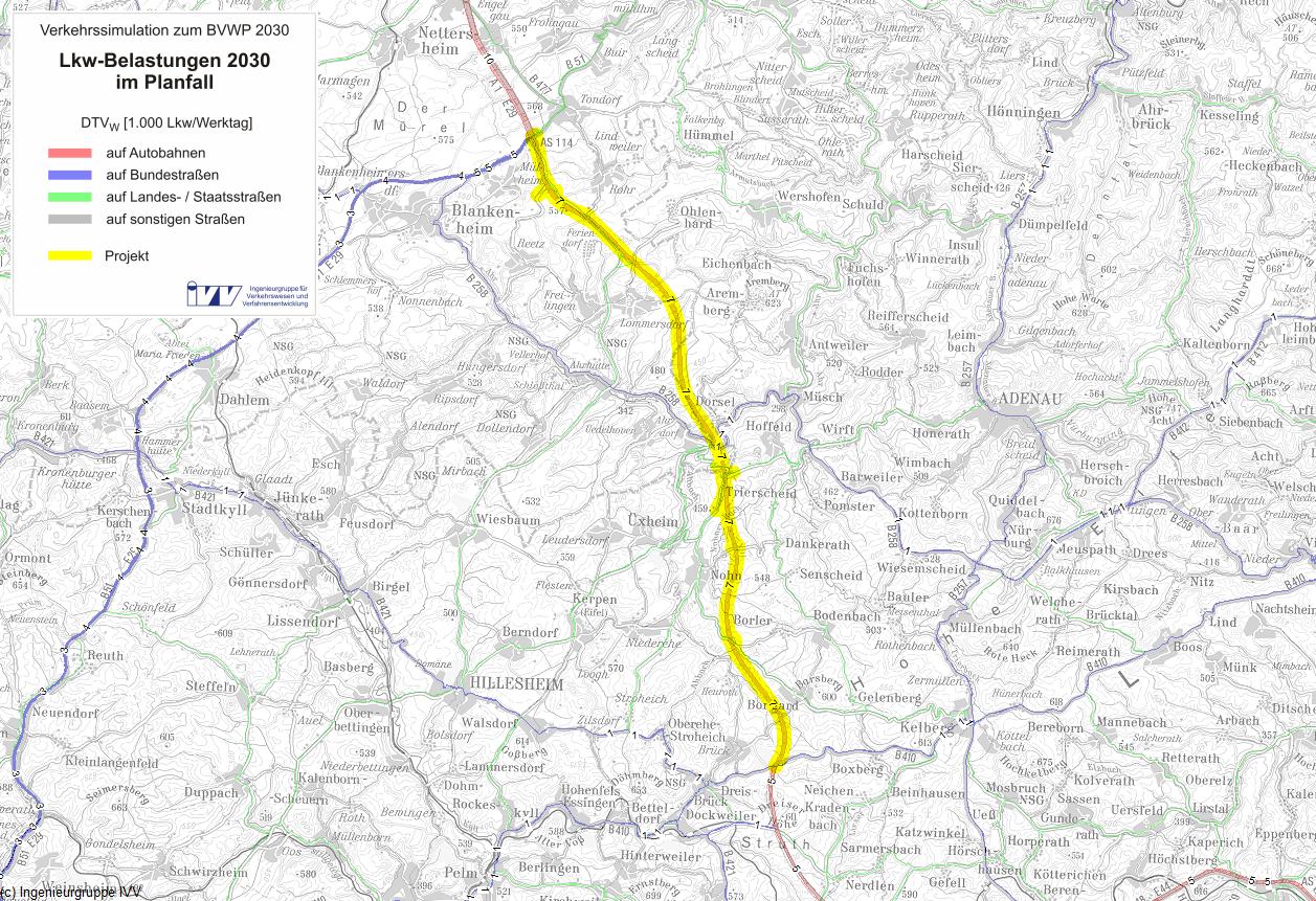 a1 lückenschluss eifel karte Bundesverkehrswegeplan 2030 – Projekt A001 G10 NW RP